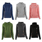 Women Long Sleeve Hoodie Tops Lady Hooded Sweatshirt Coat Jacket warm daily wear