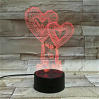 Night Light Color Changing Heart Shape Romantic Valentine's Day Decorative Gift