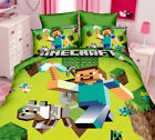 Minecraft Game King Single Size Bedding Quilt Doona Duvet Cover Set Pillowcases
