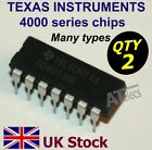 TEXAS INSTRUMENTS  4000 series ic chips,  many types,  DIP DIL  - UK Stock
