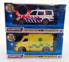 Teamsterz  Emergency Vehicles Ambulance and Police Car With Lights & Sounds Toy