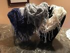 Delicious Infinity Fringe Neck Scarf/Warmer Blue