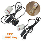 1.5M US/AU 250W Reptile Ceramic Heat Bulbs Holder Adapter Lamp on/off Switch Kit