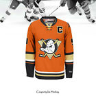 Paul Kariya Anaheim Ducks 9 Orange Alternate Hockey Jersey Stitched