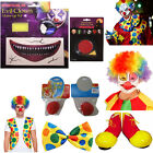 IT Clown Stuff Afro Wig,Vest, Makup Facepaint, Shoes Halloween Fancy Dress