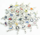 Your Choice, NFL Football Sports Team Pendant Dangle Charms with Clasp
