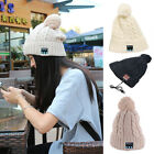 Women Warm Knitted Cap Bluetooth Headphones Hat Outdoor Sports Stero Music Hats