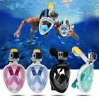 Full Face Mask Surface Snorkel Scuba Diving Breather Pipe for GoPro S/M/L/XL US