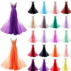 Long Chiffon Prom Dresses Evening Formal Party Ball Gown Bridesmaid Size 6~22++