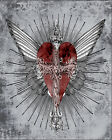 Wings Angel Heart  - Vintage Art Print Poster - A1 A2 A3 A4 A5