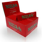 New Full Box of 50 Booklets RED RIZLA+ KING SIZE Slim Tobacco Rolling Papers