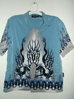 new youth boys SILVER POINT WINGED DRAGONS HAWAIIAN SHIRT sz  XL
