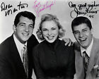 JERRY LEWIS 46 WITH DEAN MARTIN AND JANET LEIGH SIGNED PHOTO PRINTS