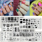 24 Patterns Nail Art Stamping Plates Multi Design Image Stamp Template Manicure