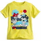 Disney Store Mickey Mouse & Donald Duck Summer Fun Boys T Shirt Size 2/3 4 5/6