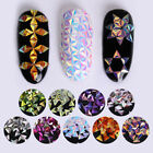 Colorful Unicorn Nail Art Glitter Chameleon Triangle Iridescent Flakes Sequins