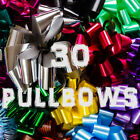 30pc 30mm Pull Bows for Wedding Car Pews Gift Wrap Florist Cake bow pullbows