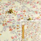 ORANGE PINK 160cm wide Meter/Square/FQ Cotton Fabric Pastel Flower Floral Craft