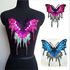 """Large Sew-on BUTTERFLY patch applique Choose Blue (12-3/8"""") or Pink (10-1/4"""") $10.99 USD"""