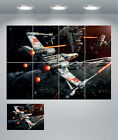 Star Wars X Wing Fighter Space Giant Wall Art Poster Print $25.15 CAD on eBay