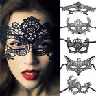 BLACK LACE MASQUERADE PARTY MASK Sizes vary by type