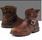 Chukka Cowboy Boots Outdoor Boy Military Mens Leather Buckle
