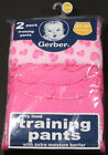 GERBER TODDLER GIRL'S POTTY TRAINING PANTS WITH TERRY & PEVA LINING 2-PACK 2T /3T