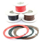 21 AMP Single Core Stranded Copper Cable 12v 24v Thin Wall Wire RED BLACK BROWN