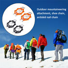 1 Pairs 19 Teeth Claws Micro spikes Footwear Ice Traction Sports System Crampons