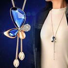 Classic Crystal Butterfly Tassel Long Necklace Women Bijoux New Fashion Jewelry