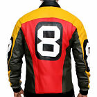 Puddy's Patrick Warburton 8 Ball Leather Jacket - Fast Shipping $64.99 USD