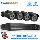 FLOUREON 8CH HDMI 1080P DVR 3000TVL Outdoor Security Camera CCTV System 1TB New