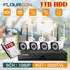 FLOUREON 8CH HDMI 1080P DVR 3000TVL Outdoor Security Camera CCTV System 1TB