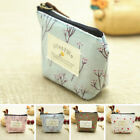 Women Small Canvas Floral Pattern Coin Purse Wallet Bag Ideal Party Bag/Gift New