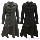 Ladies Womens Vintage Retro Boho Hippie Long Coat Buttoned Jacket 8 10 12 14 16