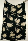 NEW  22/24 or 26/28  LONG A FRAME SKIRT blend LINEN COTTON VISCOSE  FLORAL PRINT