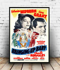 Bringing up baby : Vintage Movie advertising , Wall art , poster, Reproduction.