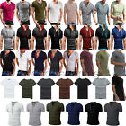 Fashion Men's Tee Shirt T-Shirt Slim Fit Short Sleeve Casual Cotton Tops T Shirt
