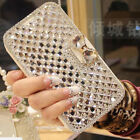Luxury Bling Rhinestone Diamond Leather Flip Wallet Case Cover For Oukitel Phone