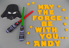 Handmade STAR WARS 1-14 set logo Darth Vader cake topper decoration edible £9.9 GBP