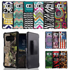Rugged Dual Layered Case w/Stand Cover+Holster Clip for Samsung Galaxy Note 8
