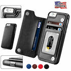 For iPhone X 8 7 6 Plus Wallet Card Slot Case Leather Shockp