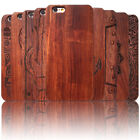 For Apple iPhone 8 8 Plus 360° Protective Shockproof Bamboo Real Wood Case Cover