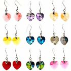 925 Sterling Silver Heart Earrings Made with SWAROVSKI