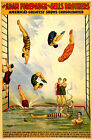 Vintage Sells Bros Water Carnival Diving Circus Poster Art Re-Print A3 A4
