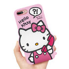3D Hello Kitty Cartoon Silicone Gel Phone Case For iPhone 5 6 7 8 Samsung Huawei