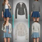 ABERCROMBIE & FITCH WOMENS HAILEY BOMBER JACKET SWEATSHIRT SIZE M,L A&F