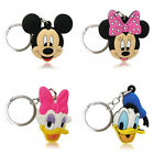 4pcs/set Mickey Minnie Cartoon Figure Key Chains PVC Key Ring Key Holder Pendant