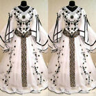 Medieval Vintage Long Sleeves Wedding Dresses Gothic Embroidery Bridal Ball Gown