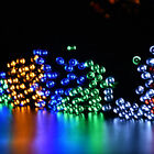 5M 50 LED Outdoor Solar Powered String Light Outdoor Christmas Party Fairy Lamp